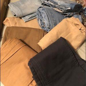 Bulk jeans and casual men's pants 7 pair 1 price